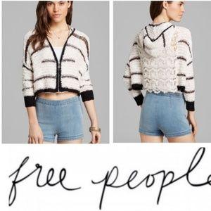 Free people zip crop cardigan